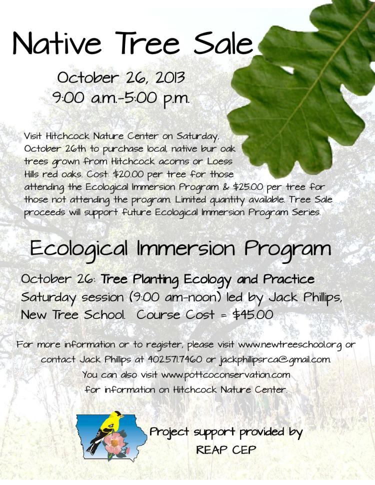 Tree Planting Ecology and Practice workshop and tree sale